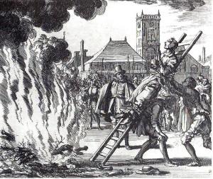 16世紀にオランダで行われた再洗礼派の処刑