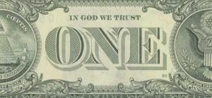 1ドル札に記された「In God We Trust」の文字