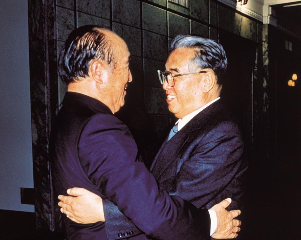 文鮮明総裁と金日成主席