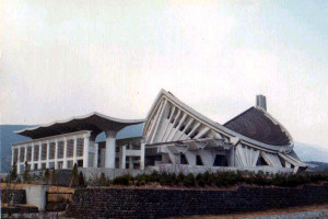 創価学会の財務で建てられた日蓮正宗大石寺(正本堂)1979年12月撮影