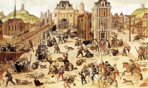 ユグノー戦争の過程で起きた「サン・バルテルミの虐殺」(1572年)