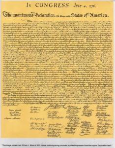 アメリカの独立宣言(1776年)